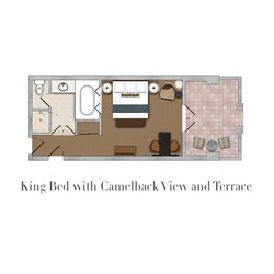 King Bed Camelback View and Terrace