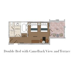 Double Bed with Camelback View and Terrace