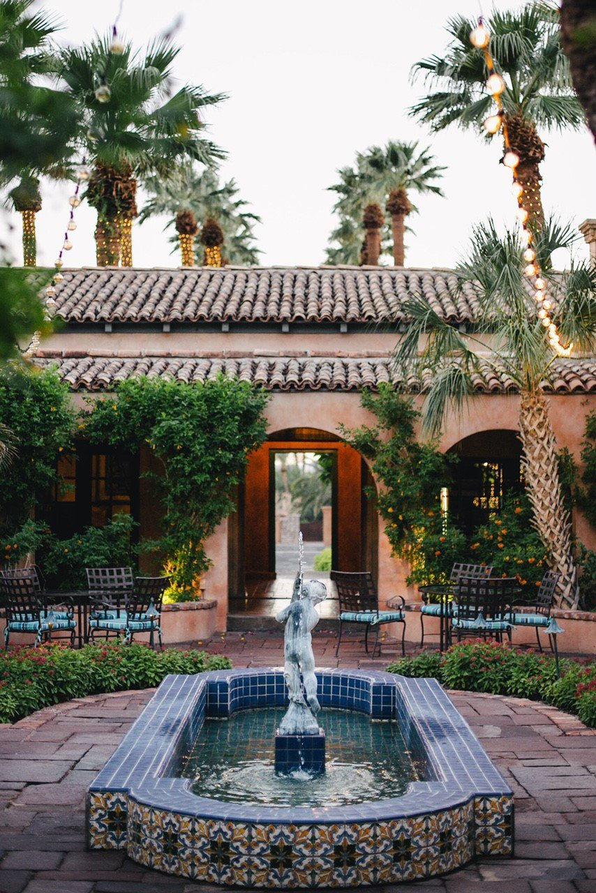 mansion courtyard